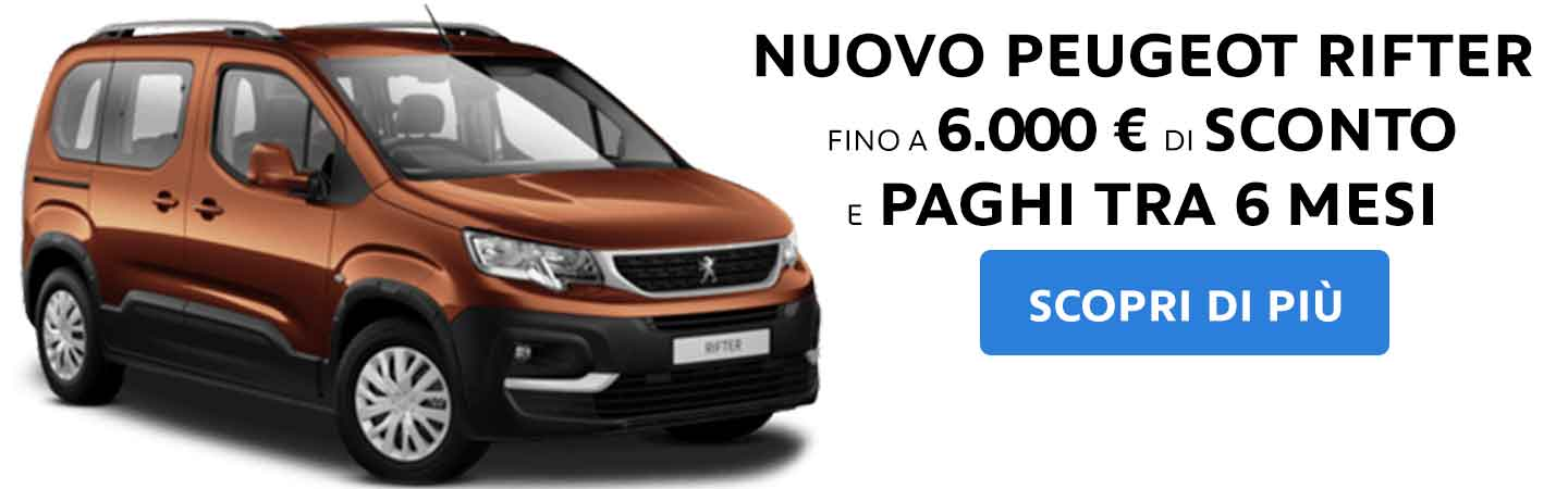 Nuovo Peugeot Rifter SCONTO